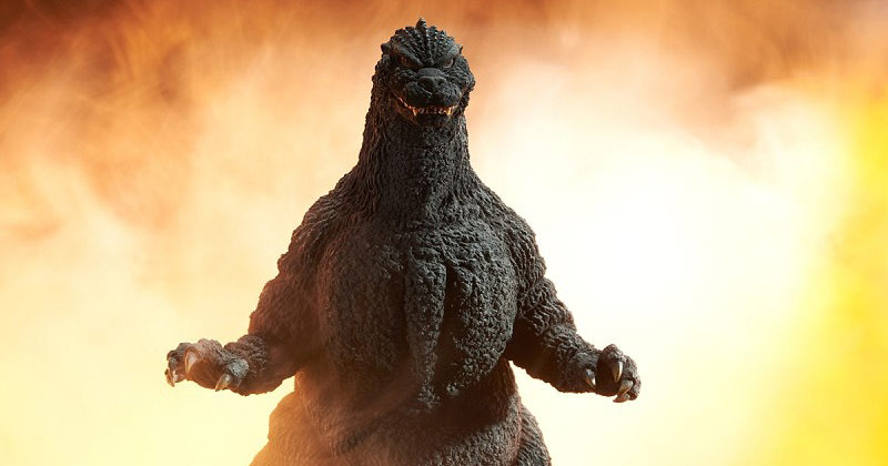 X-Plus Yuji Sakai Godzilla 1989 Osaka Closed Mouth Version vinyl figure.