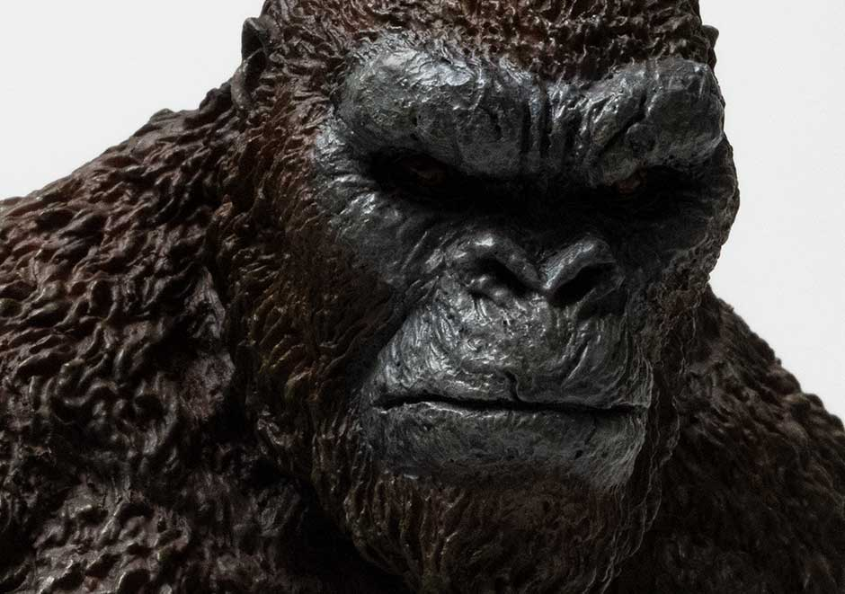 Extra: Dark close-up of Kong's face.