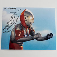 Satoshi 'Bin' Furuya as Ultraman - Autographed 'Ready to Fight' Photograph - Dec. 2018, New York