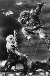 "Publicity photo from Toho's ""War of the Gargantuas"", 1966."