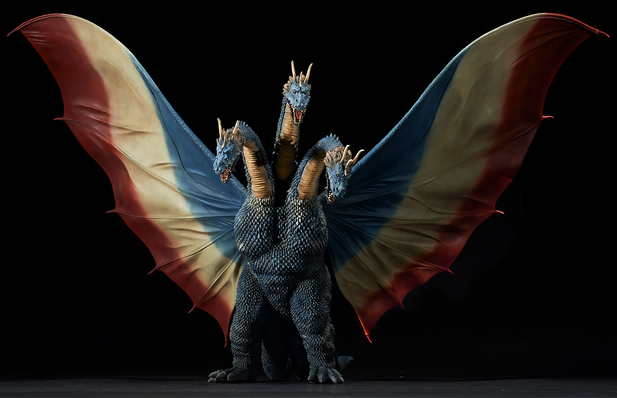Toho Large Monster Series King Ghidorah 1964 Ric Exclusive version vinyl figure by X-Plus.