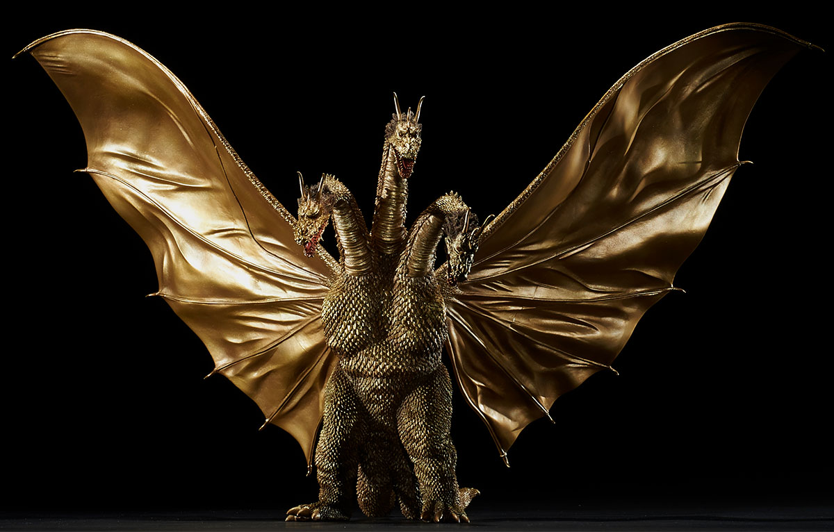 Toho Large Monster Series King Ghidorah 1964 standard version vinyl figure by X-Plus.