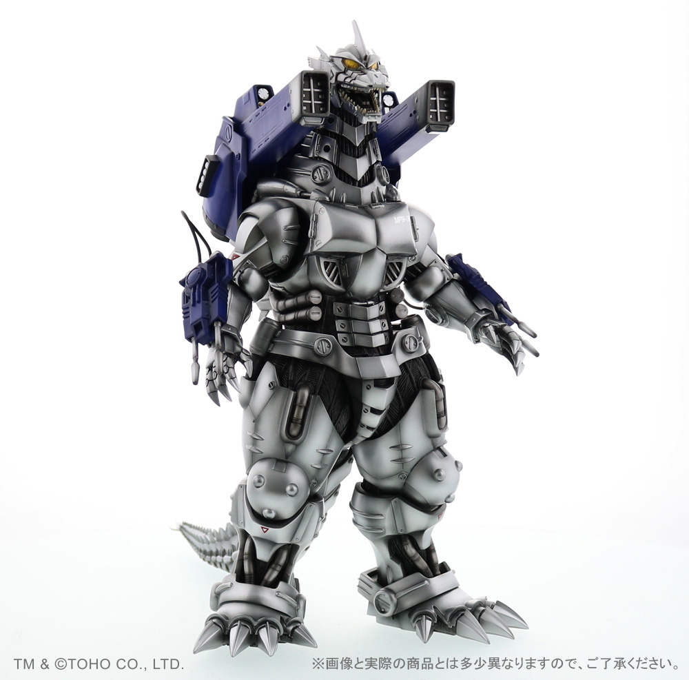 Right front view of X-Plus 30cm Series Kiryu 2002 Heavy Arms Nighttime Version vinyl figure.