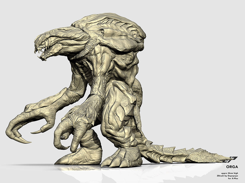 Digital sculpt of the 25cm Series Orga by Dopepope.