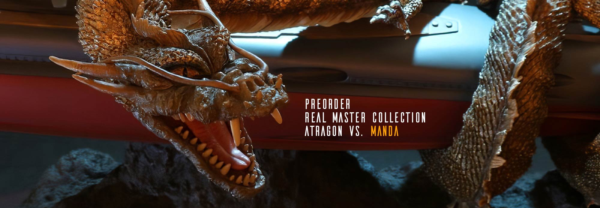 Preorders open for Real Master Collection Atragon vs. Manda by X-Plus.