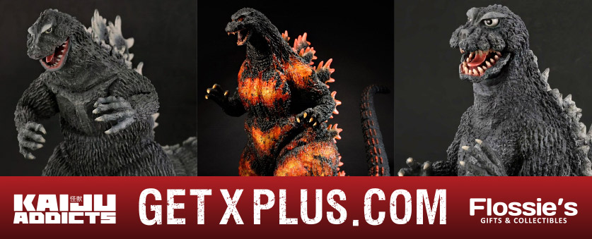Order X-Plus vinyl figures from Kaiju Addicts & Flossie's.