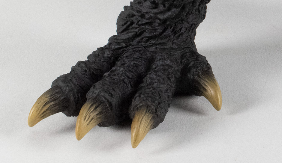 Close-up of the foot.