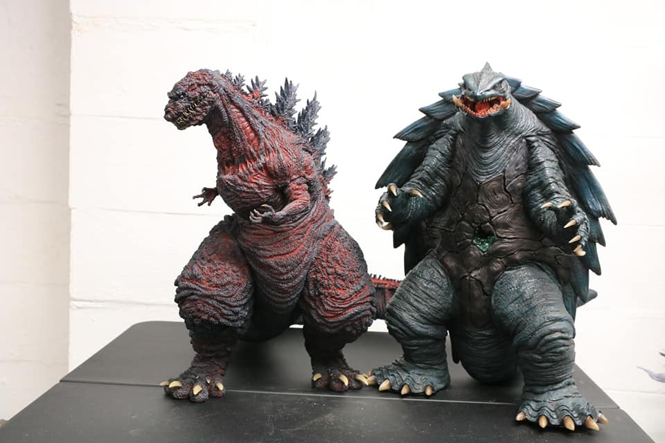 Prime One Studios Gamera 1999 size coparison with X-Plus Gigantic Series Shin Godzilla.