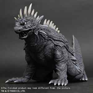 "Large Monster Series ""Crawling"" Varan (1958) Black and White version vinyl figure."