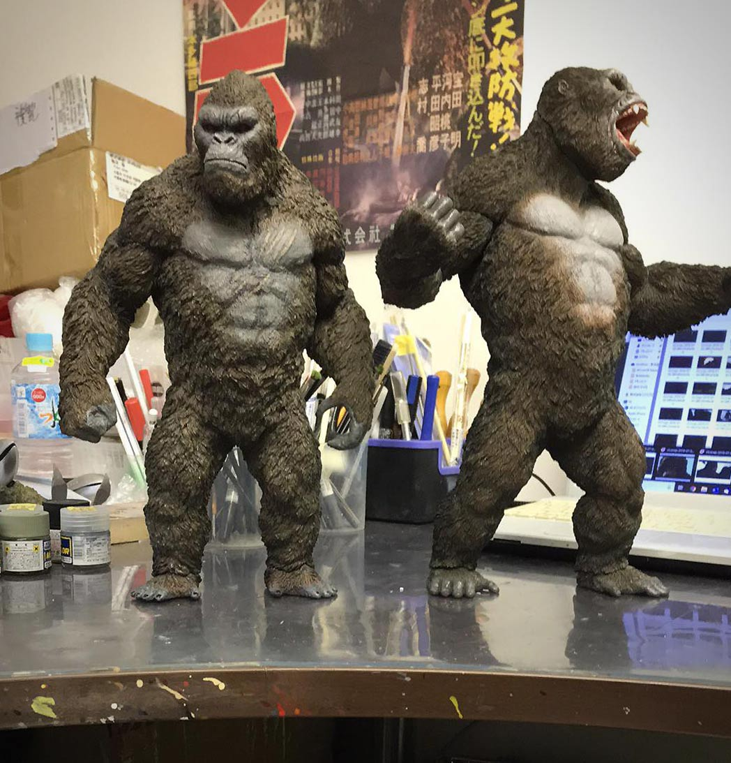Both versions of the Star Ace Kong side by side at the shop where all the magic happens.