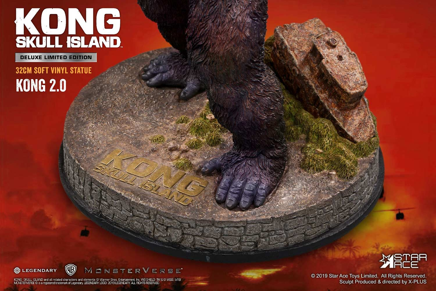 Close-up of the base from the Star Ace Kong 2.0 Deluxe Version.