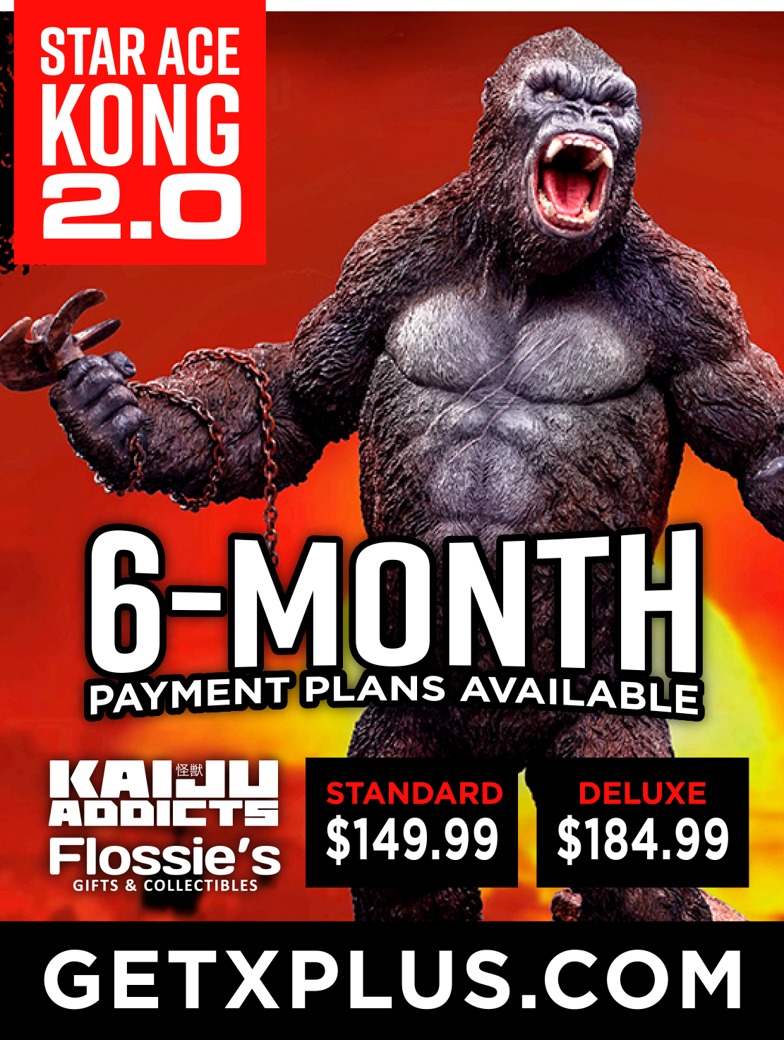 Star Ace (X-Plus) Kong 2.0 now up for preorder at Flossie's!