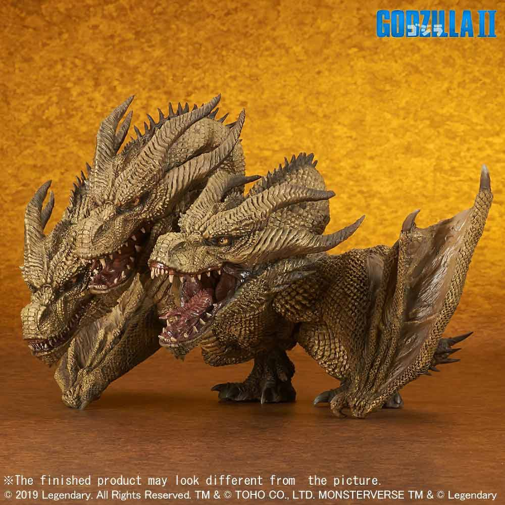 Right Left View of the Deforeal Series King Ghidorah 2019 vinyl figure by X-Plus.