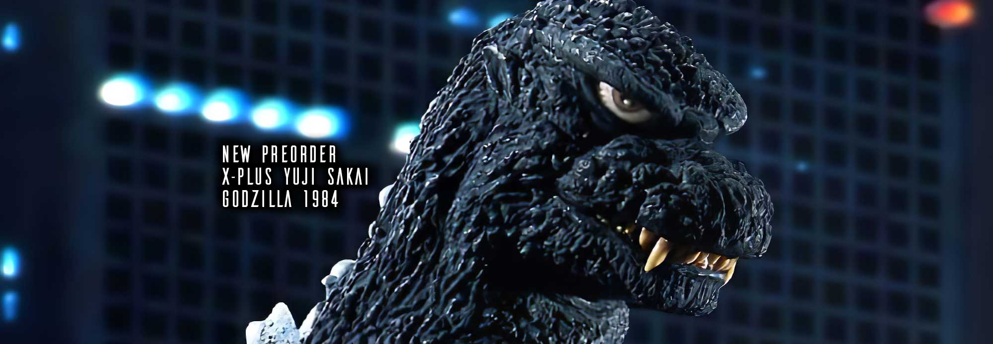 X-Plus 30cm Series Yuji Sakai Modeling Collection Godzilla 1984 vinyl figure.